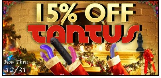 15% off Tantus